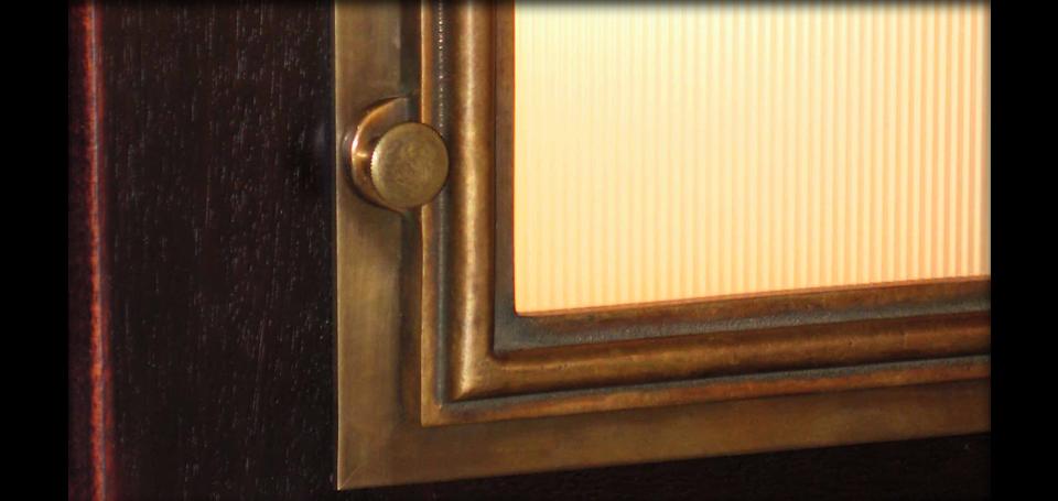 Detail of cast bronze sconce