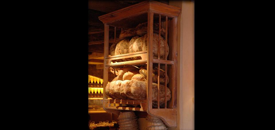Handmade wood bread rack